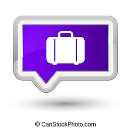 Bag icon prime purple banner button