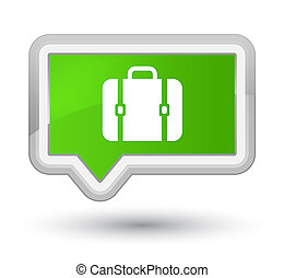 Bag icon prime soft green banner button