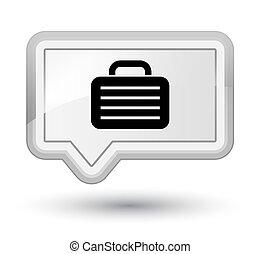 Bag icon prime white banner button