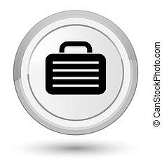Bag icon prime white round button