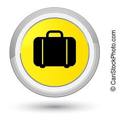 Bag icon prime yellow round button