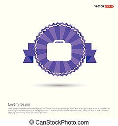 Bag icon - Purple Ribbon banner