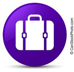 Bag icon purple round button