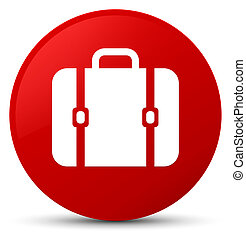 Bag icon red round button