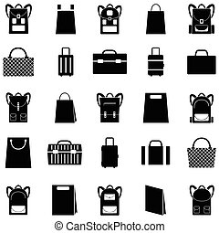 bag icon set