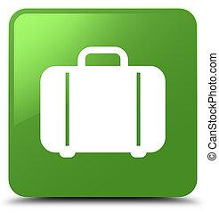 Bag icon soft green square button