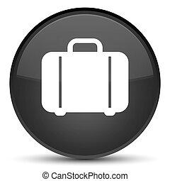 Bag icon special black round button