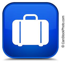 Bag icon special blue square button