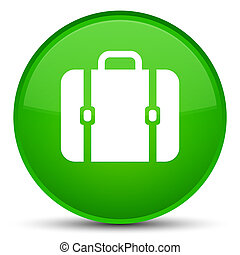 Bag icon special green round button