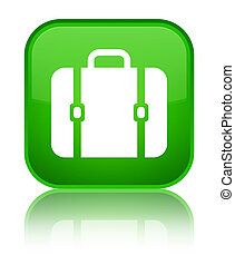 Bag icon special green square button