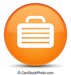 Bag icon special orange round button