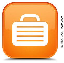 Bag icon special orange square button