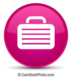 Bag icon special pink round button