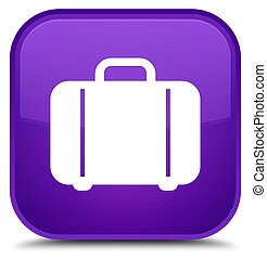 Bag icon special purple square button