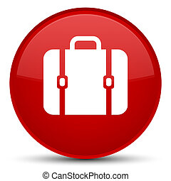 Bag icon special red round button
