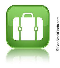 Bag icon special soft green square button