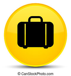 Bag icon special yellow round button