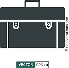 Bag icon, symbol, flat design isolated on white. Vector illustration EPS 10