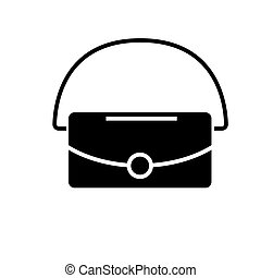 bag icon, vector illustration, black sign on isolated background