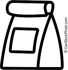Bag icon vector. Isolated contour symbol illustration