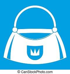 Bag icon white
