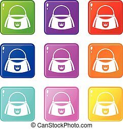 Bag icons 9 set
