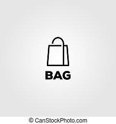 bag line art logo vector minimalist illustration design