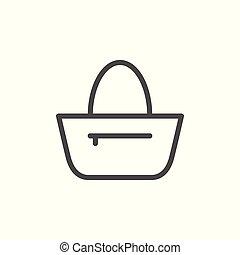 Bag line icon