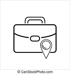 bag location icon on white background Vector