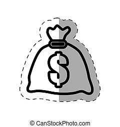 bag money dollar bank