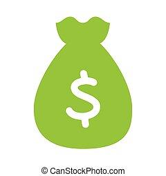 bag money flat line icon