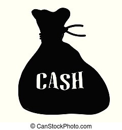 Bag Of Cash Isolated