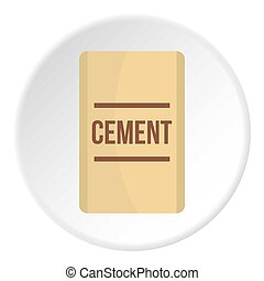 Bag of cement icon circle