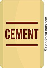 Bag of cement icon isolated