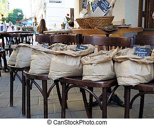 Bag of coffee.