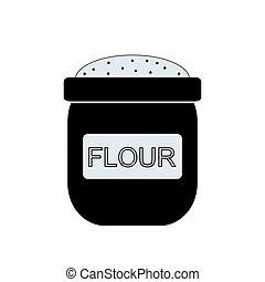 Bag of flour icon.