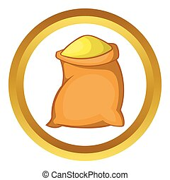 Bag of flour vector icon