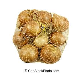Bag of fresh Onions