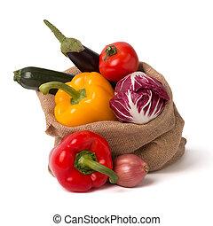 Bag of fresh vegetables