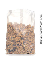 bag of granola raisin almond cereal