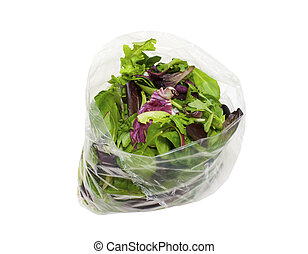 Bag of healthy fresh spring salad