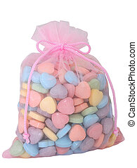 Bag of Heart Candies
