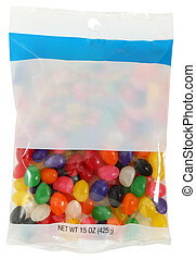 Bag of Jelly Beans - Bag of colorful jelly beans 15 ounces...