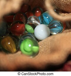 Bag of Marbles - a small bag of marbles