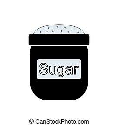 Bag of sugar icon.