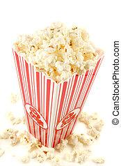 popcorn - bag of warm  and delicious popcorn