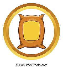 Bag of wheat vector icon