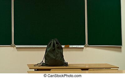 bag on a table