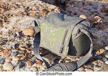 Bag on the seashore