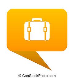 bag orange bulb web icon isolated.